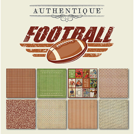 Authentique Paper - All Star Collection - 6 x 6 Paper Pad - Football