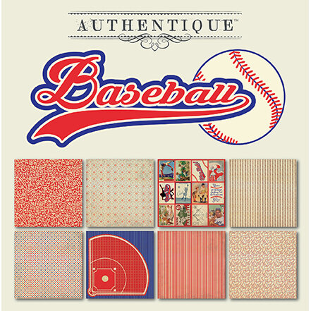 Authentique Paper - All Star Collection - 6 x 6 Paper Pad - Baseball