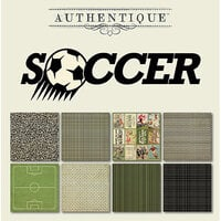 Authentique Paper - All Star Collection - 6 x 6 Paper Pad - Soccer