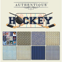 Authentique Paper - All Star Collection - 6 x 6 Paper Pad - Hockey