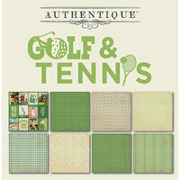 Authentique Paper - All Star Collection - 6 x 6 Paper Pad - Golf and Tennis