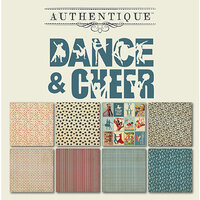 Authentique Paper - All Star Collection - 6 x 6 Paper Pad - Dance and Cheer