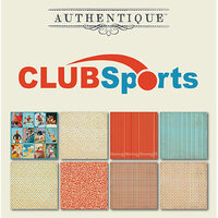 Authentique Paper - All Star Collection - 6 x 6 Paper Pad - Club Sports