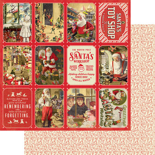 Authentique Paper - A Magical Christmas Collection - 12 x 12 Double Sided Paper - Seven