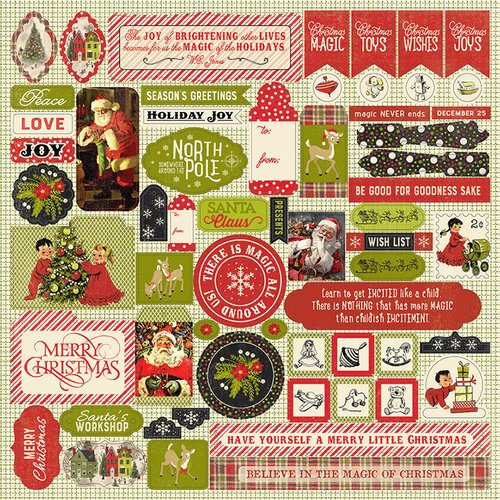 Authentique Paper - A Magical Christmas Collection - Cardstock Stickers - Details
