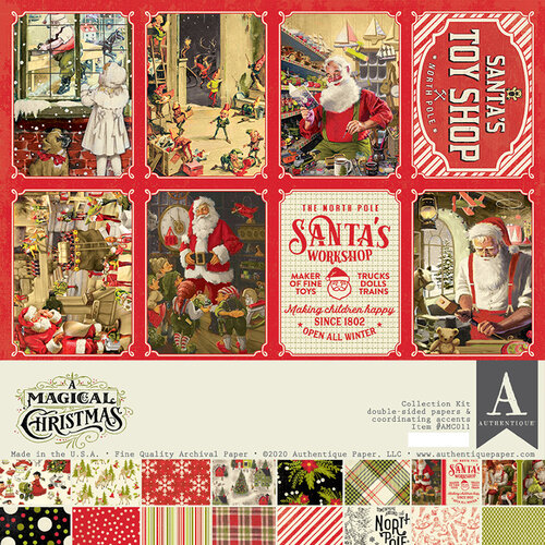 Authentique Paper - A Magical Christmas Collection - 12 x 12 Collection Kit