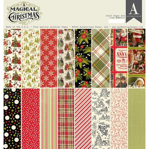 Authentique Paper - A Magical Christmas Collection - 12 x 12 Paper Pad