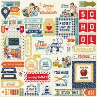 Authentique Paper - Scholastic Collection - 12x 12 Cardstock Stickers - Details