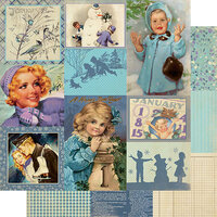 Authentique Paper - Calendar Collection - 12 x 12 Double Sided Paper - January Images