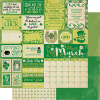 Authentique Paper - Calendar Collection - 12 x 12 Double Sided Paper - March Sentiments