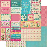 Authentique Paper - Calendar Collection - 12 x 12 Double Sided Paper - May Sentiments