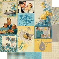 Authentique Paper - Calendar Collection - 12 x 12 Double Sided Paper - June Images