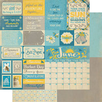 Authentique Paper - Calendar Collection - 12 x 12 Double Sided Paper - June Sentiments
