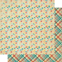 Authentique Paper - Calendar Collection - 12 x 12 Double Sided Paper - August Patterns