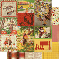 Authentique Paper - Calendar Collection - 12 x 12 Double Sided Paper - September Images