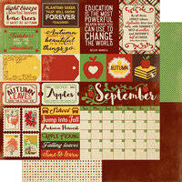 Authentique Paper - Calendar Collection - 12 x 12 Double Sided Paper - September Sentiments