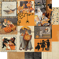 Authentique Paper - Halloween - Calendar Collection - 12 x 12 Double Sided Paper - October Images