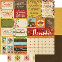 Authentique Paper - Calendar Collection - 12 x 12 Double Sided Paper - November Sentiments