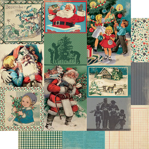 Authentique Paper - Christmas - Calendar Collection - 12 x 12 Double Sided Paper - December Images