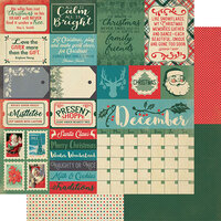 Authentique Paper - Christmas - Calendar Collection - 12 x 12 Double Sided Paper - December Sentiments
