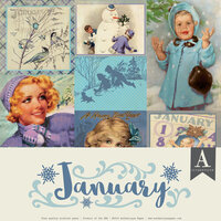 Authentique Paper - Calendar Collection - 12 x 12 Collection Pack - January