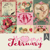 Authentique Paper - Calendar Collection - 12 x 12 Collection Pack - February