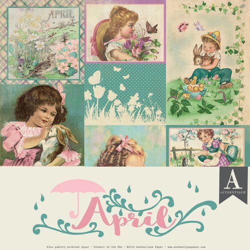 Authentique Paper - Calendar Collection - 12 x 12 Collection Pack - April
