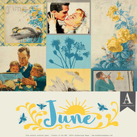 Authentique Paper - Calendar Collection - 12 x 12 Collection Pack - June