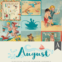 Authentique Paper - Calendar Collection - 12 x 12 Collection Pack - August
