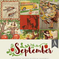 Authentique Paper - Calendar Collection - 12 x 12 Collection Pack - September