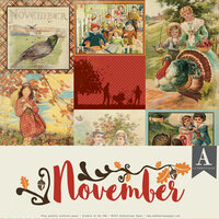 Authentique Paper - Calendar Collection - 12 x 12 Collection Pack - November