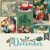 Authentique Paper - Christmas - Calendar Collection - 12 x 12 Collection Pack - December