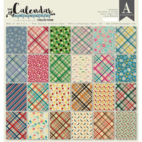 Authentique Paper - Calendar Collection - 12 x 12 Paper Pad - Patterns and Plaids Pad