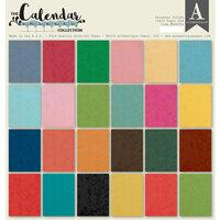 Authentique Paper - Calendar Collection - 12 x 12 Paper Pad - Solids Pad