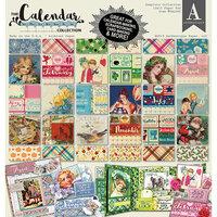 Authentique Paper - Calendar Collection - 12 x 12 Paper Pad - Complete Paper Pad