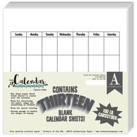 Authentique Paper - Calendar Collection - 8 x 8 Blank Calendar Set