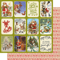 Authentique Paper - Christmas Greetings Collection - 12 x 12 Double Sided Paper - Tow