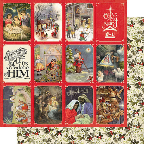 Authentique Paper - Christmas Greetings Collection - 12 x 12 Double Sided Paper - Number Four