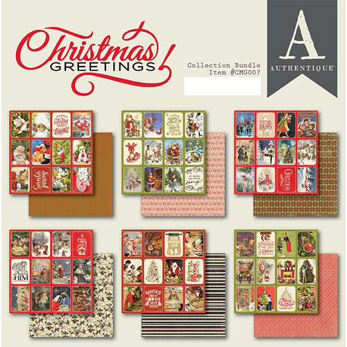 Authentique Paper - Christmas Greetings Collection - 6 x 6 Paper Pad