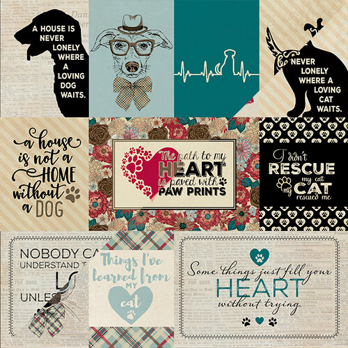 Authentique Paper - Companions Collection - 12 x 12 Double-Sided Paper - Eight