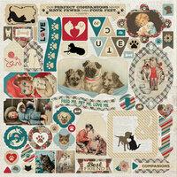 Authentique Paper - Companions Collection - 12 x 12 Cardstock Stickers - Details