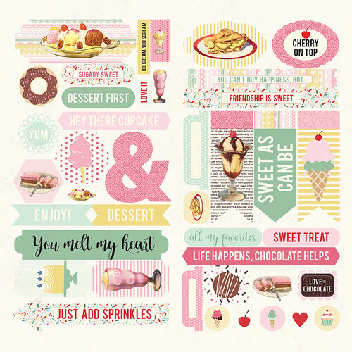 Authentique Paper - Confection Collection - Elements