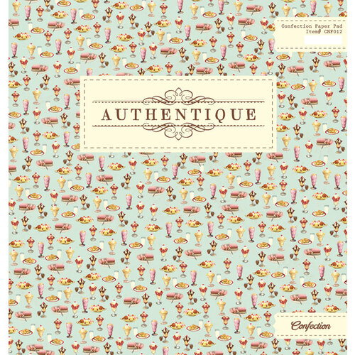 Authentique Paper - Confection Collection - 12 x 12 Paper Pad