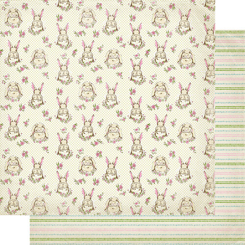 Authentique Paper - Cottontail Collection - 12 x 12 Double Sided Paper - Two