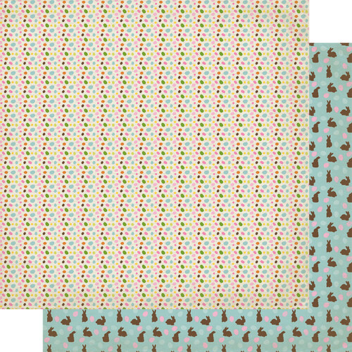 Authentique Paper - Cottontail Collection - 12 x 12 Double Sided Paper - Three
