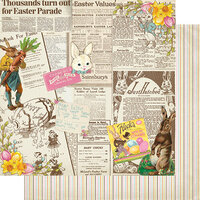 Authentique Paper - Cottontail Collection - 12 x 12 Double Sided Paper - Four