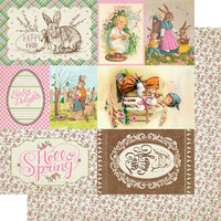 Authentique Paper - Cottontail Collection - 12 x 12 Double Sided Paper - Seven