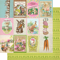 Authentique Paper - Cottontail Collection - 12 x 12 Double Sided Paper - Eight