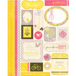 Authentique Paper - Blissful Collection - Die Cut Cardstock Pieces - Icons