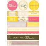 Authentique Paper - Blissful Collection - Die Cut Cardstock Pieces - Noteables